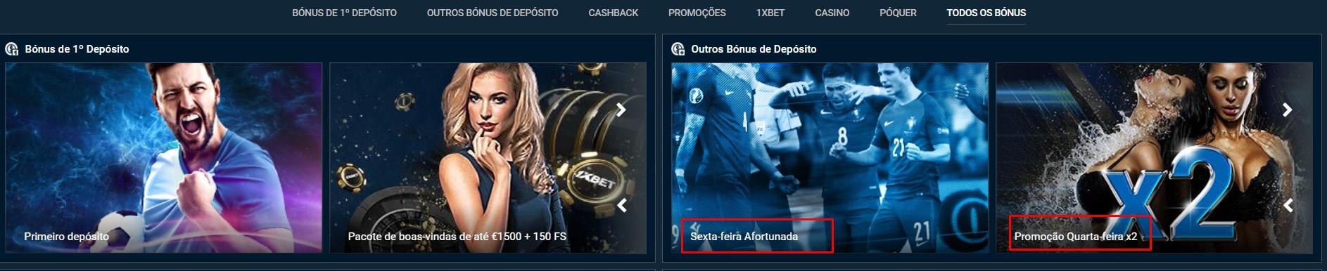 Codigo promocional 1xbet Portugal